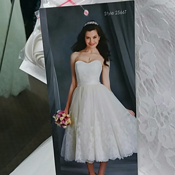 6c83ef91d86e Alfred Angelo Dresses | Nwt Tea Length Lace Wedding Dress | Poshmark